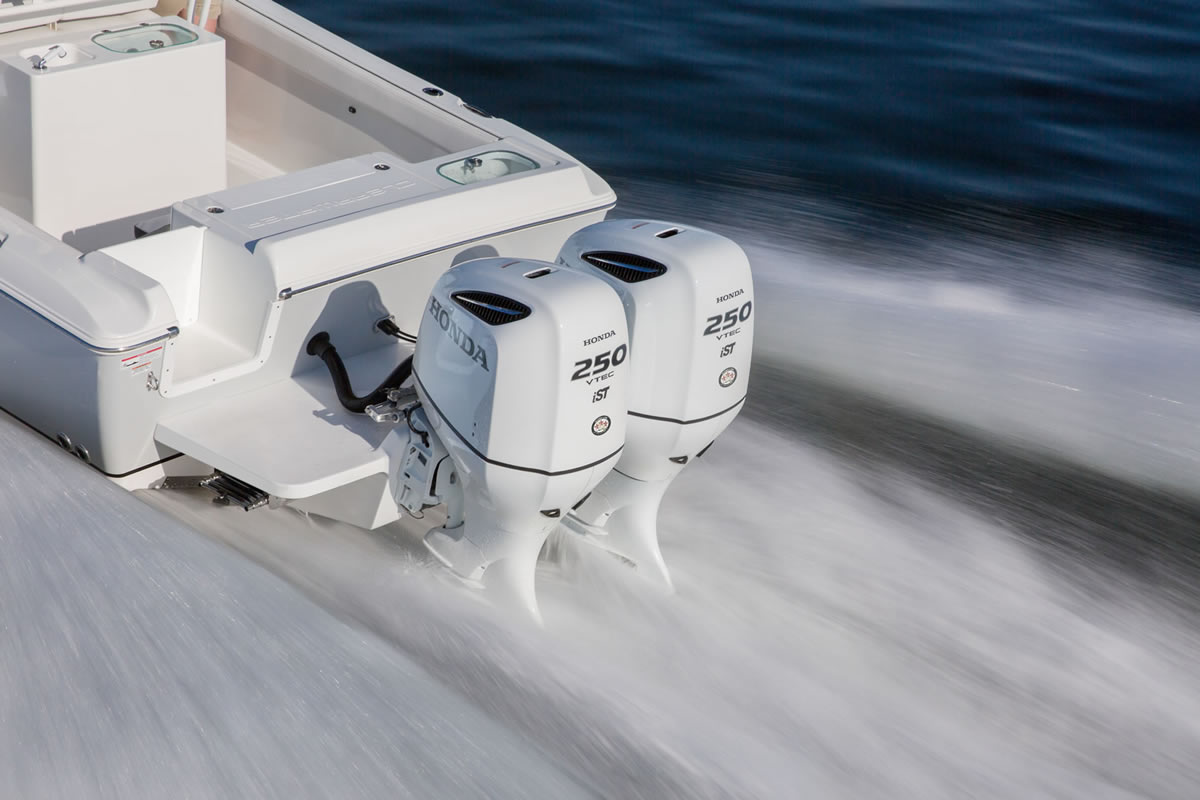 Twin Honda Outboards